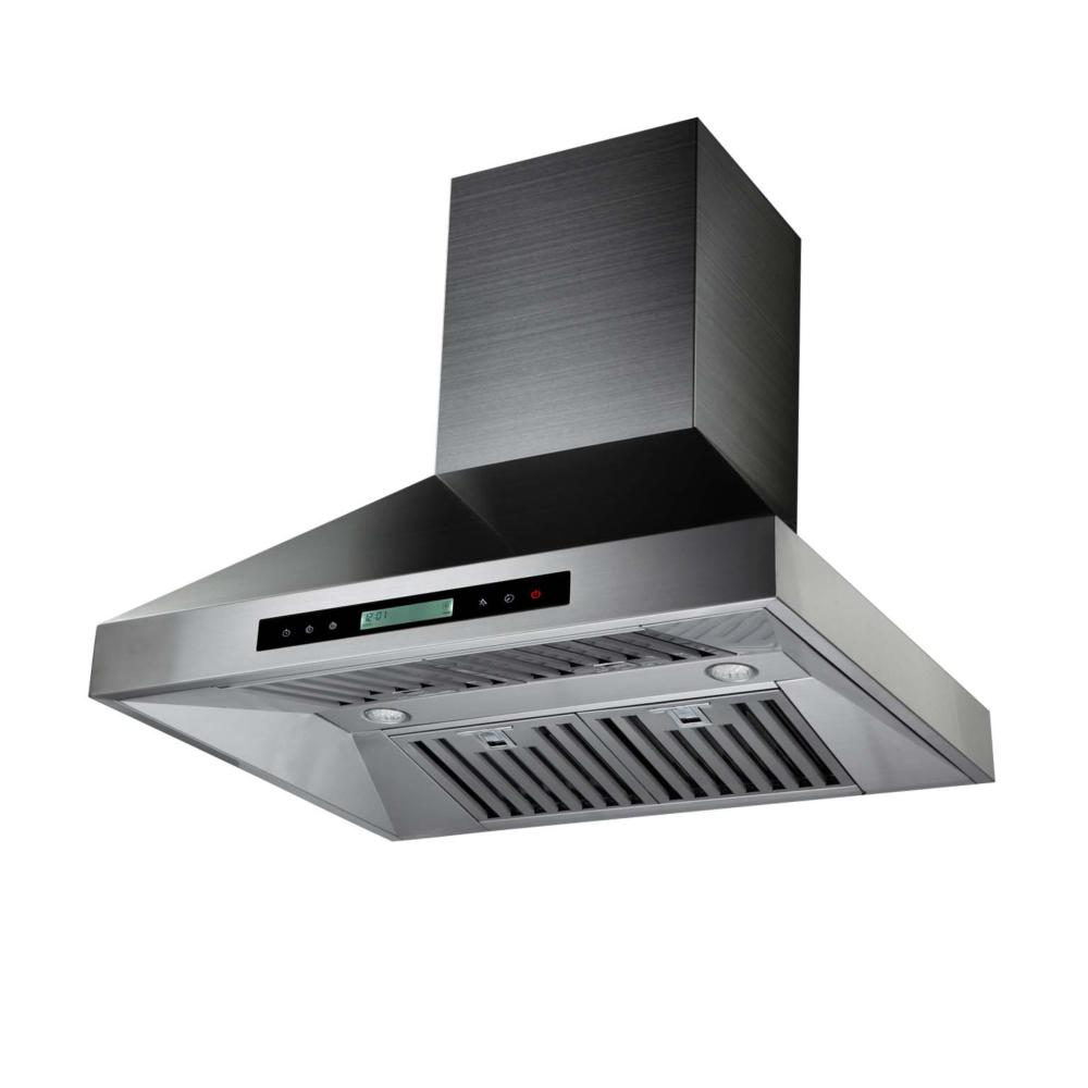 Hotte ilot acier inox ribe30ss ctm inter hardware - Hotte de cuisine stainless ...